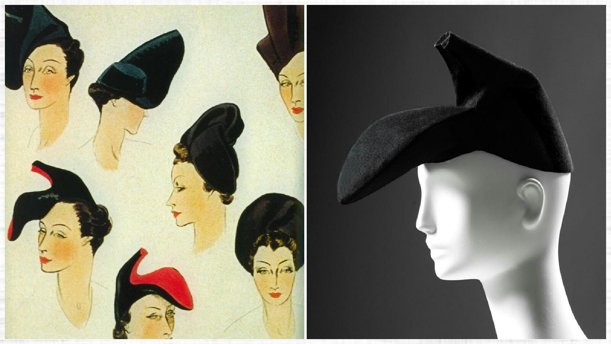 Shoe hat by Elsa Schiaparelli, courtesy of Palais Galliera