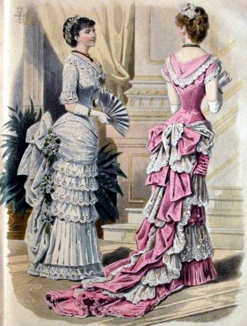 1882 fashion plate from Journal des Demoiselles