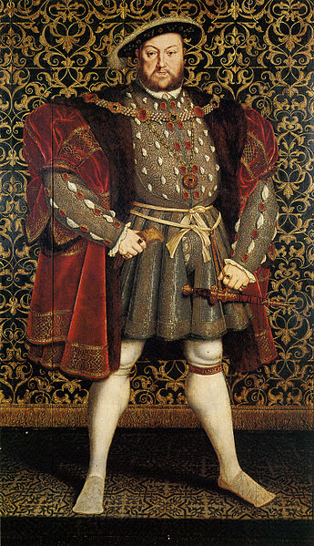 """Portrait of Henry VIII of England"" by Hans Eworth, after Hans Holbein the Younger, Chatsworth House. 1560-73"