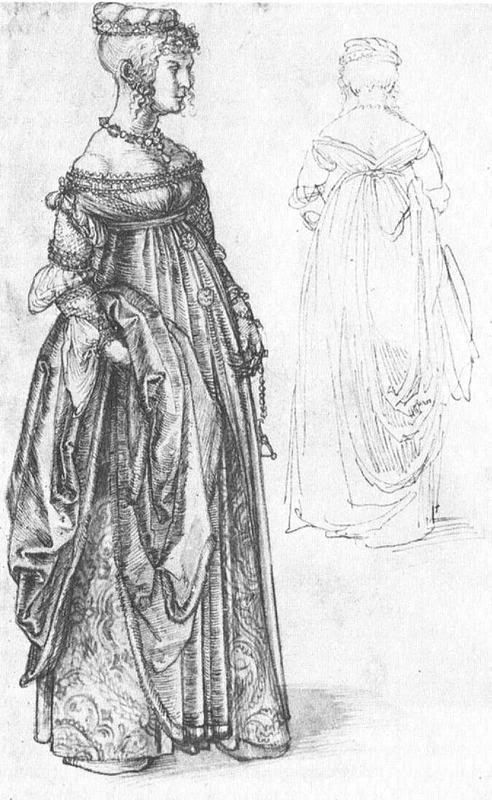 Sketch of a Venetian Woman by Albrecht Durer