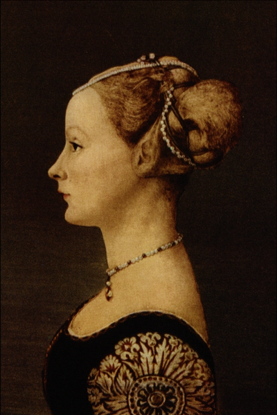 """Profile of a Woman"" by Antonio Pollaiuolo"