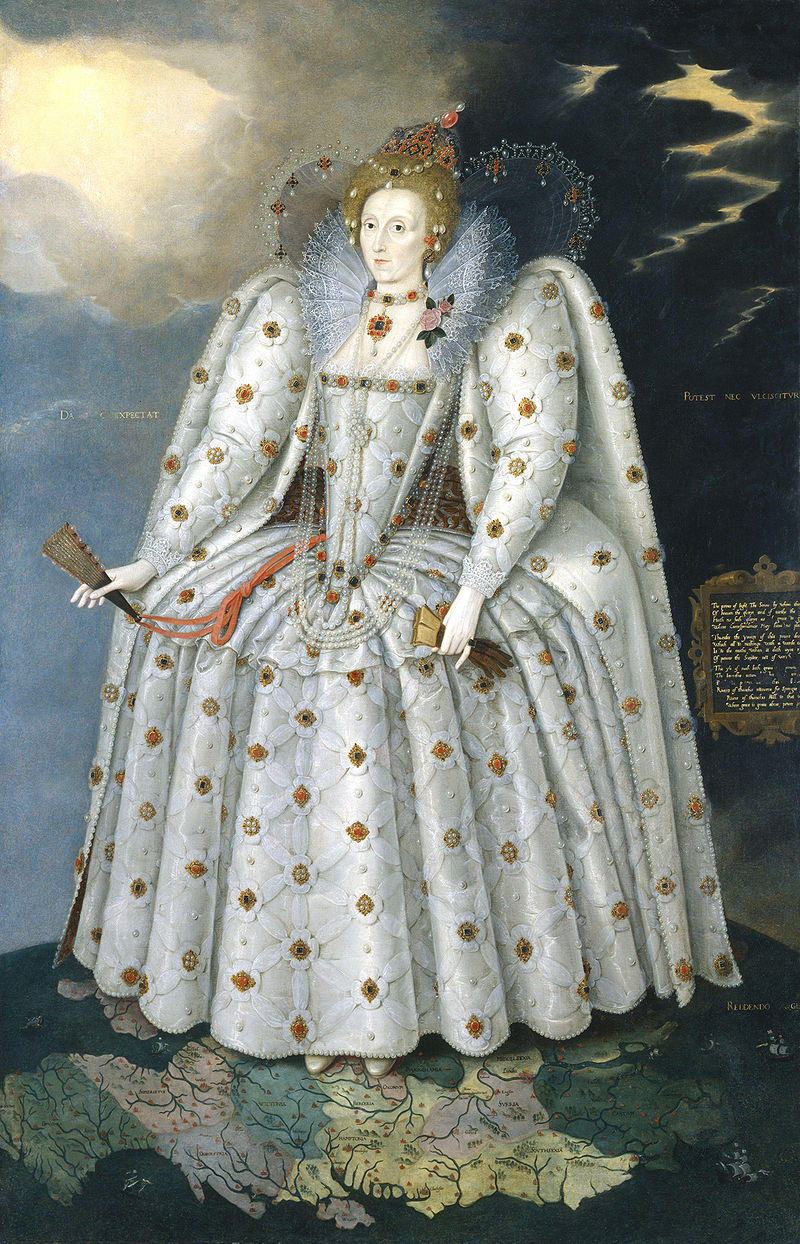 Queen Elizabeth I, the Ditchley Portrait, c. 1592. Oil on canvas, National Portrait Gallery. London. England