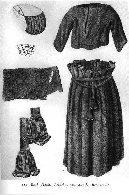 Bronze age European clothing, Kohler, Kostumewerk