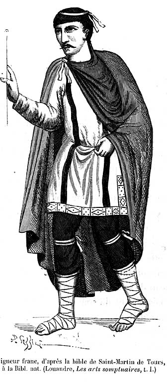 Frankish Nobleman, after the bible of St. Martin of Tours in the Bibliotheque Nationale. (Quicherat)