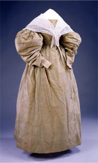 Fischu style pelerine over a gigot sleeve day dress c. 1830, Memorial Hall Museum
