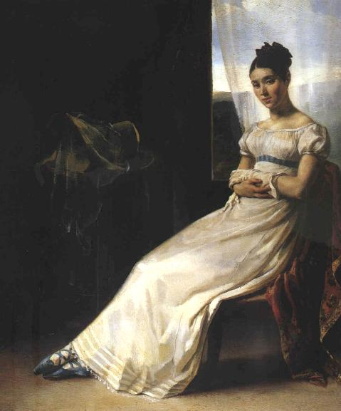 Portrait of Laure Bro, 1818. Painted by Theodore Gericault.