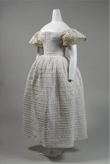 Romantic Period stays, petticoat, and sleeve support c.1830s. Metropolitan Museum of Art, New York.